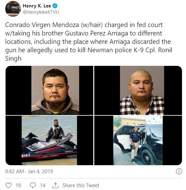 Inmigrante es condenado por ayudar a su hermano a huir a México tras asesinato Conrado Virgen Mendoza