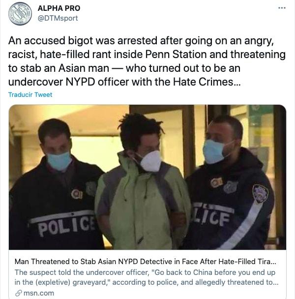 Hispano arrestado por amenazar