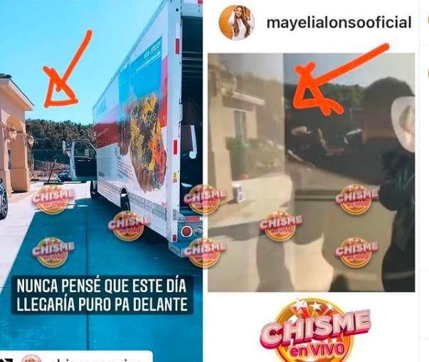 Mayeli Alonso sacó a su novio de su casa (Instagram)