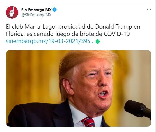 Mar a Lago coronavirus Donald Trump