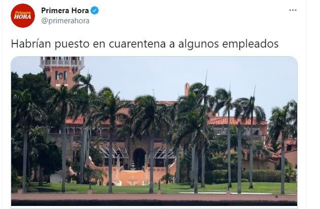Mar a Lago coronavirus Donald Trump 5
