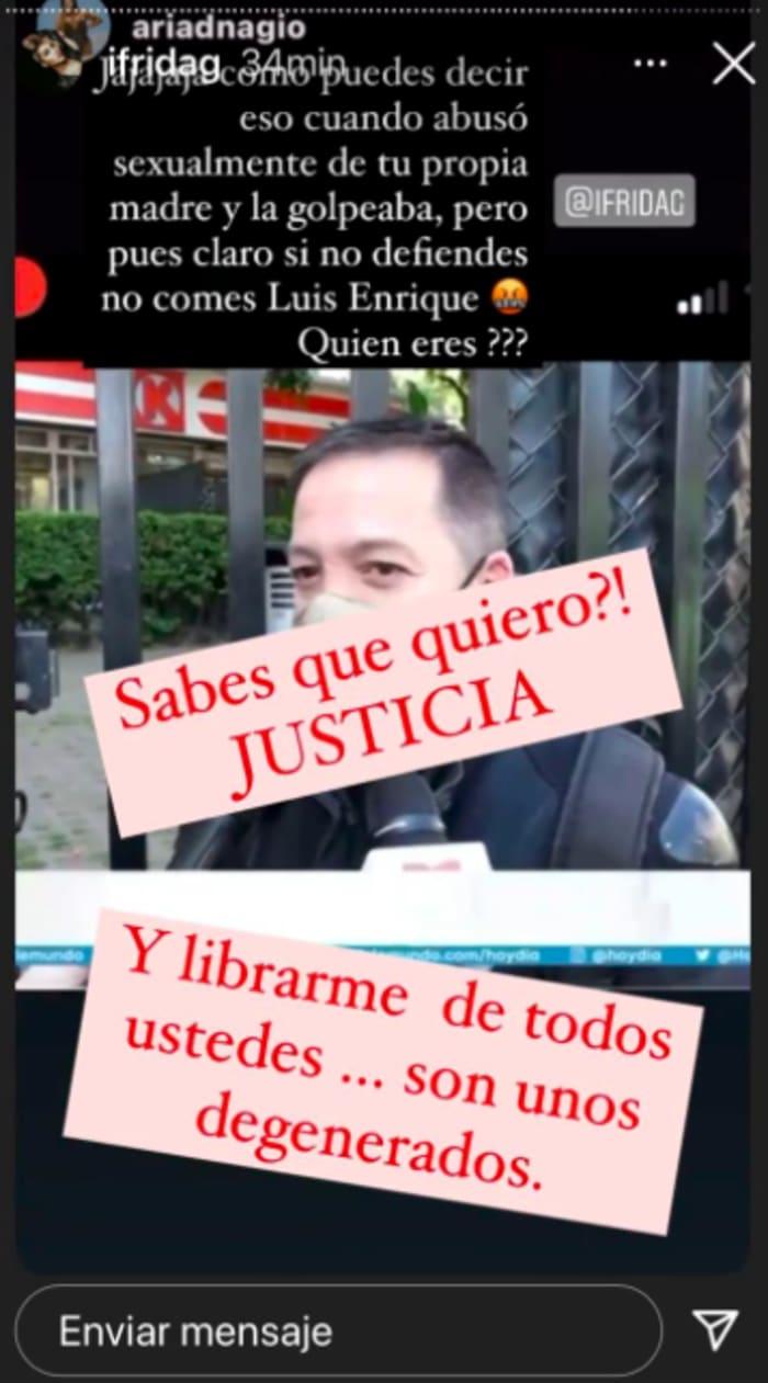 Frida Sofía le responde a su tío Luis Enrique (IG)