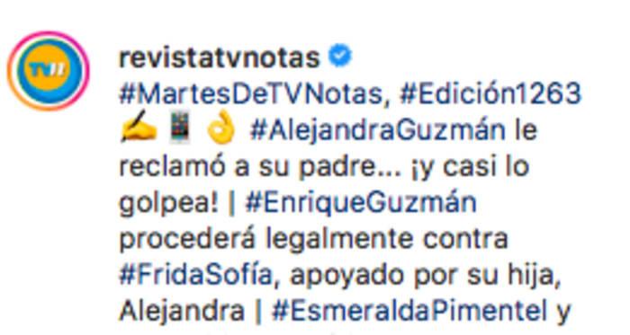 Revista asegura que demandarán a Frida Sofía (IG)