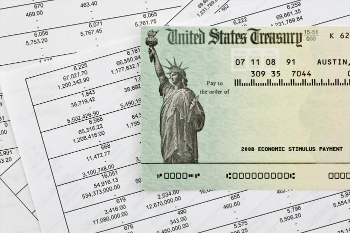 Cheque aviso IRS estímulo