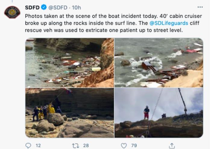 muertos bote san diego