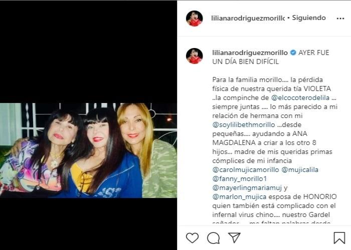 Hija de José Luis Rodríguez El Puma confirma muerte en su familia Liliana Rodríguez Morillo