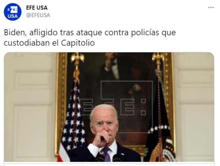 Joe Biden ataque policía Capitolio