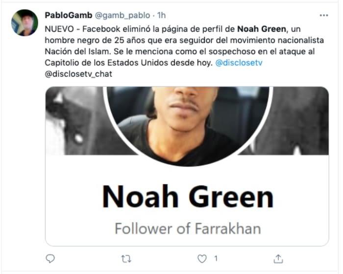 Atacante Capitolio Noah Green.