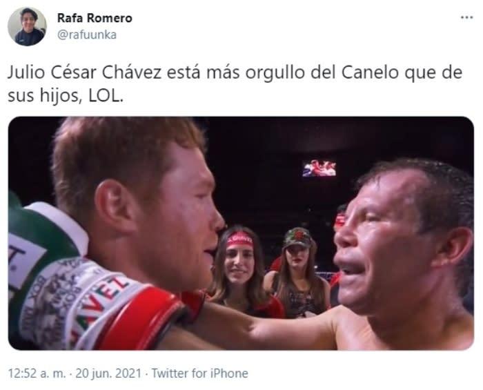 Julio Cesar Chávez says that Canelo Álvarez is the best