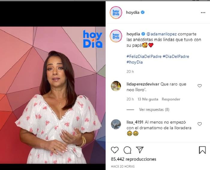 Adamari López remembers her father