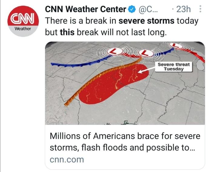 Tornado storms flooding