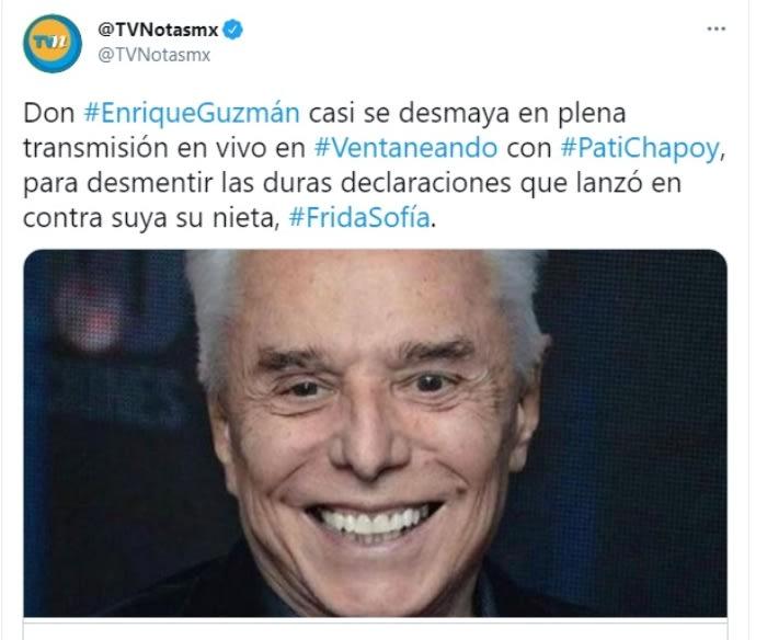 padre de Alejandra Guzmán Enrique Guzmán se desmaya Frida Sofía 3