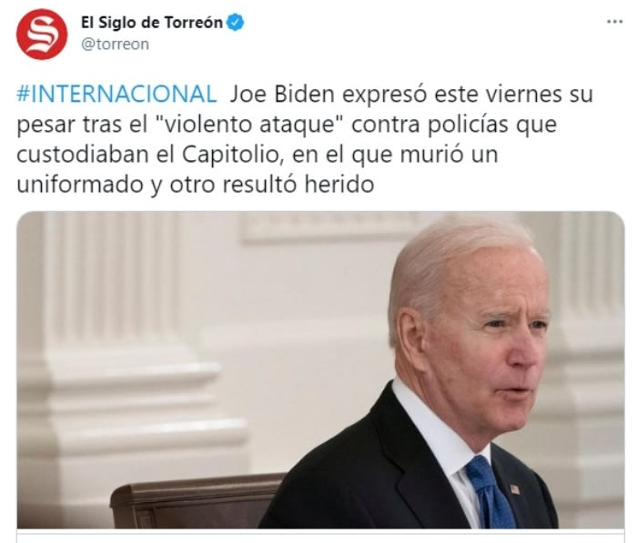 Joe Biden ataque policía Capitolio 2