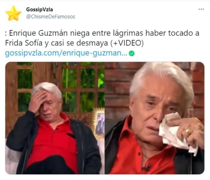 padre de Alejandra Guzmán Enrique Guzmán se desmaya Frida Sofía 4