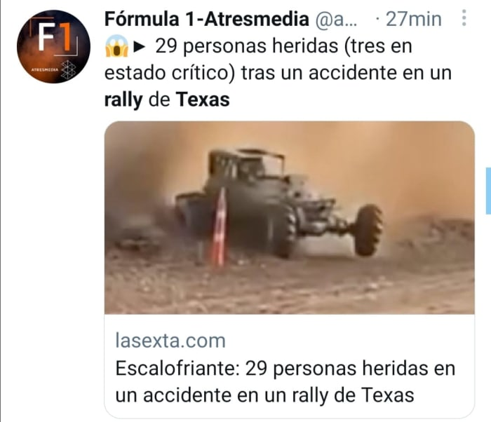 29 people were injured in the accident at the rally