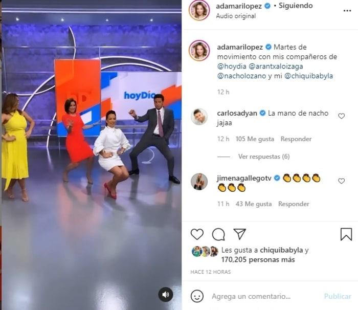 Adamari López sensual baile vestido blanco 3