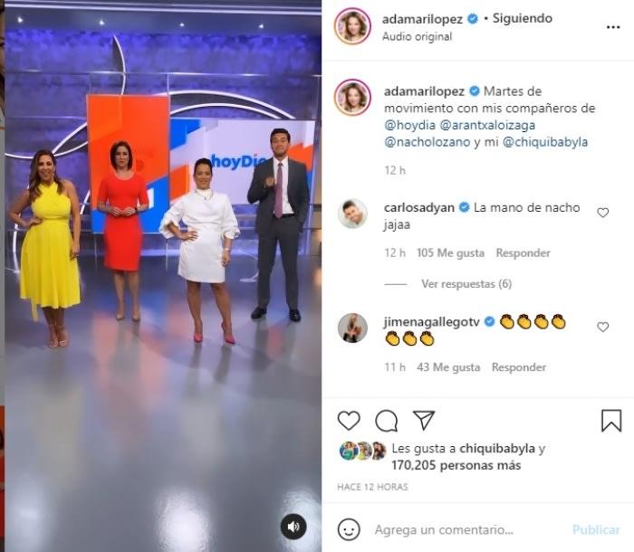 Adamari López sensual baile vestido blanco