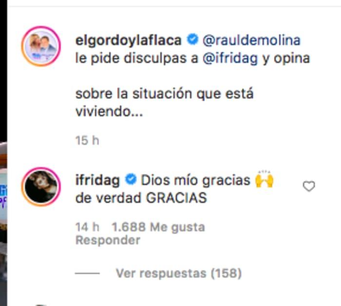 Hija de Alejandra Guzmán contesta a Raúl De Molina (IG)