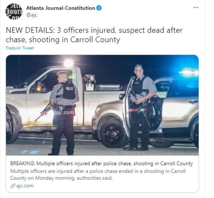 persecución y tiroteo