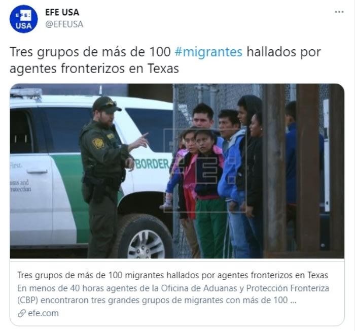 CBP tres grupos migrantes