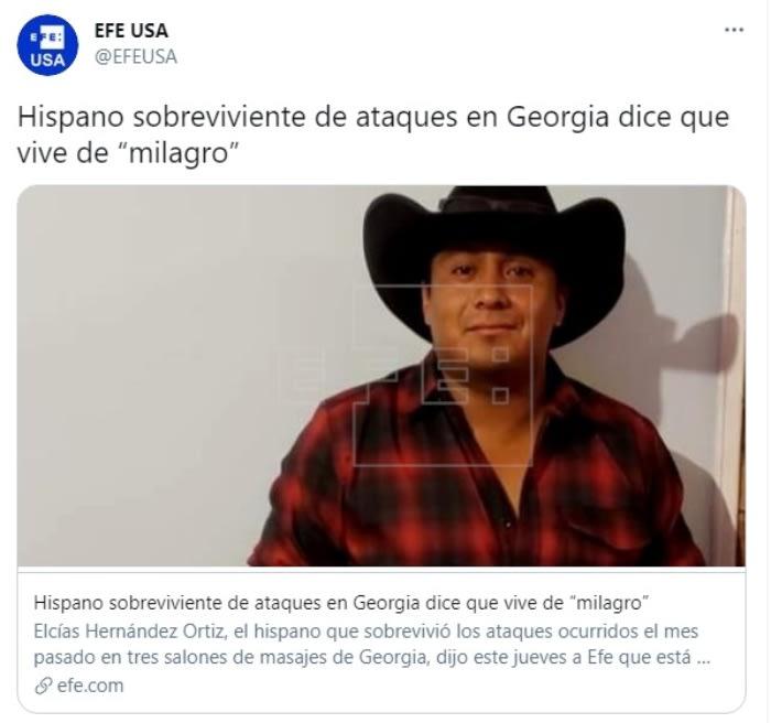 Sobreviviente ataque Georgia Elcías Hernández Ortiz.