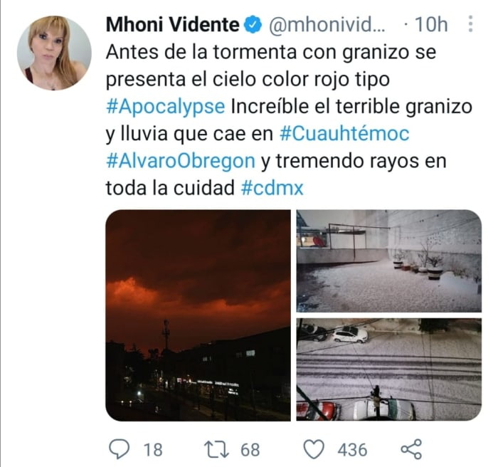 Mhoni Vidente granizo