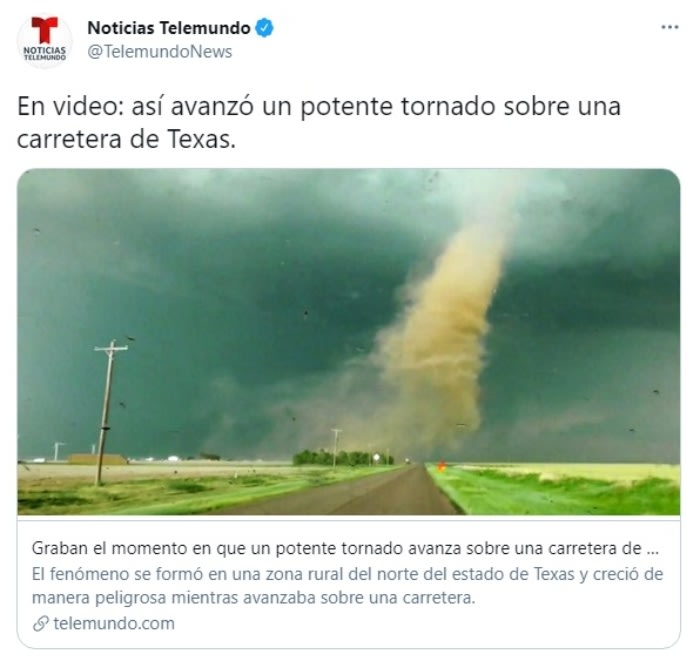 Tornado carretera Texas 2