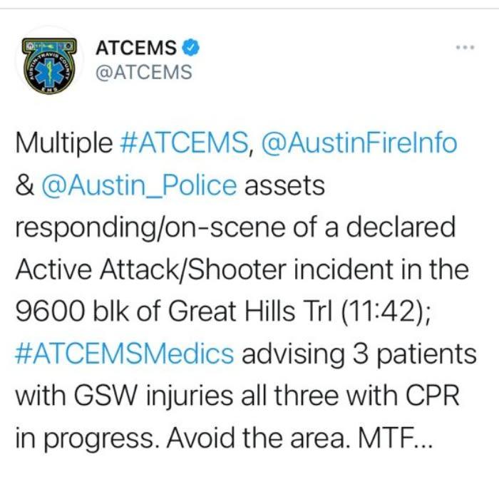 tiroteo Austin