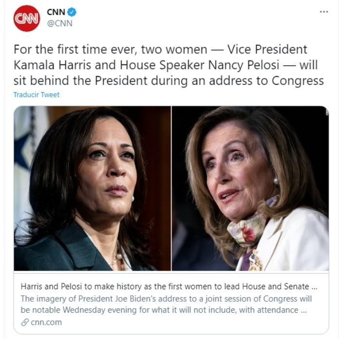 Kamala Harris hace historia Nancy Pelosi Joe Biden 3