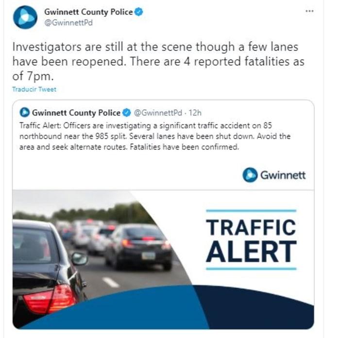 accidente en Georgia