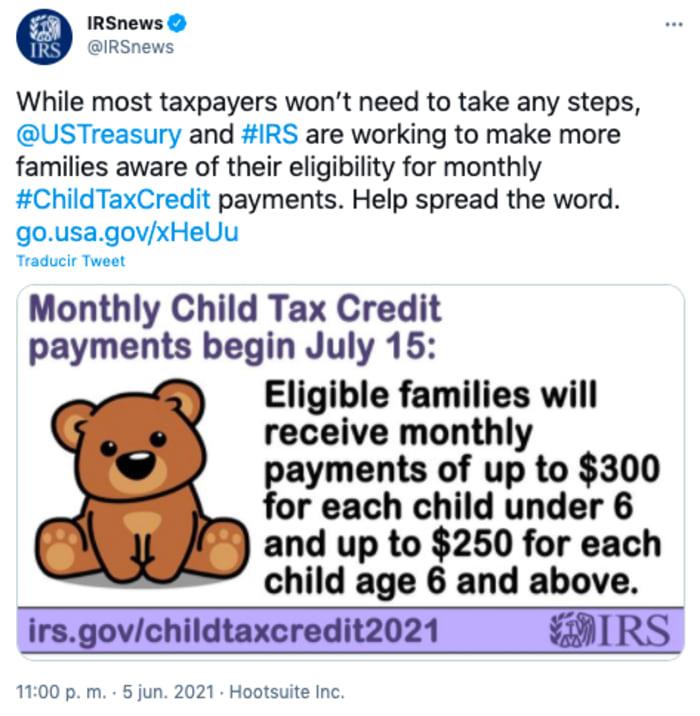 requisito crédito tributario hijos