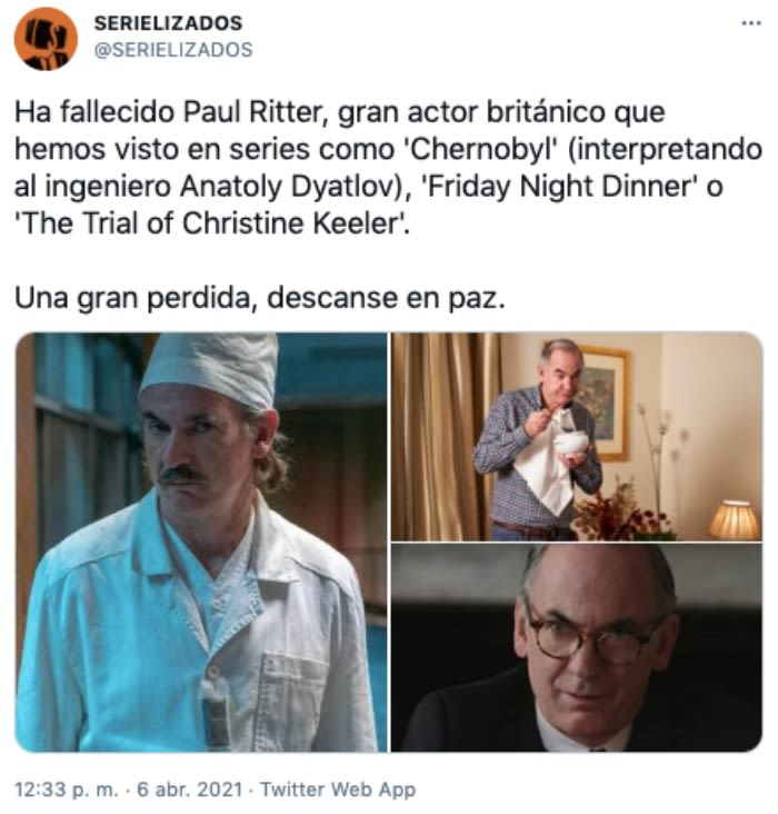 muere Paul Ritter