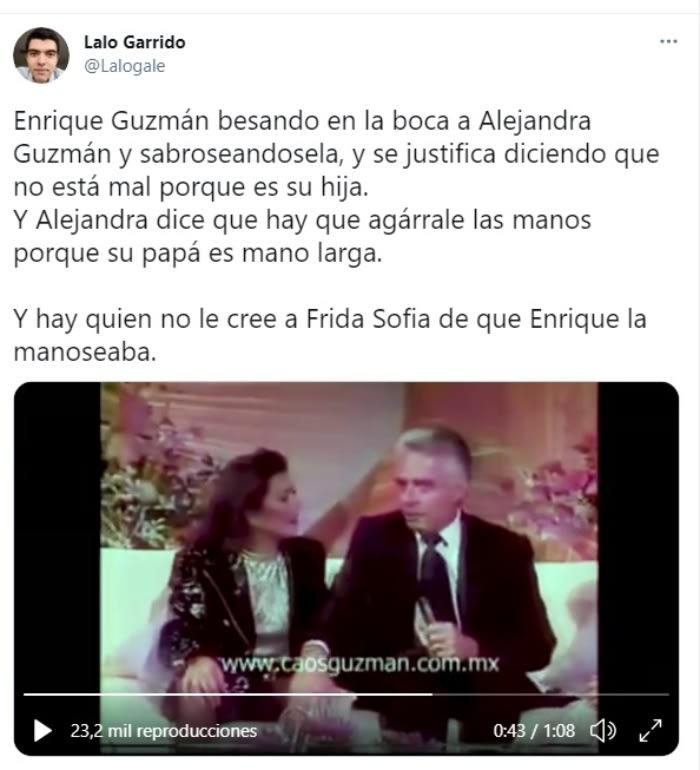 Enrique Guzmán manoseando Frida Sofía Alejandra Guzmán 2