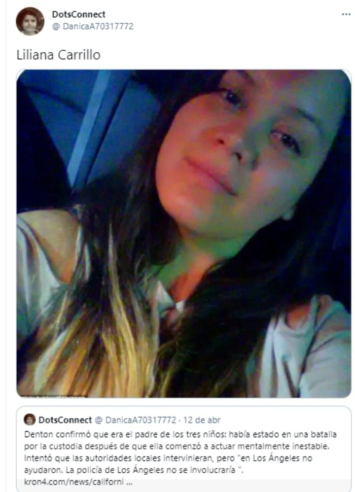 Niños asesinados Los Ángeles, Liliana Carrillo, Erik Denton, padre niños asesinados