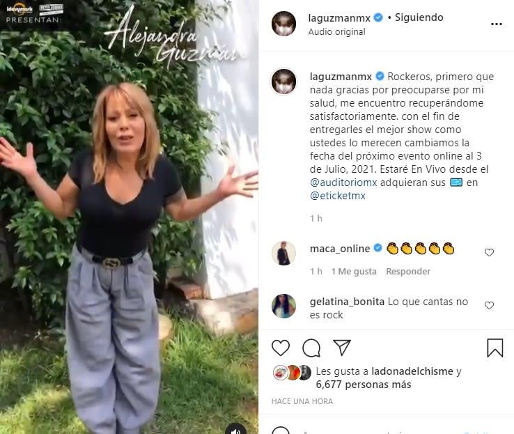 Tras escándalo con Frida Sofia, Alejandra Guzmán revela que se sometió a cirugía