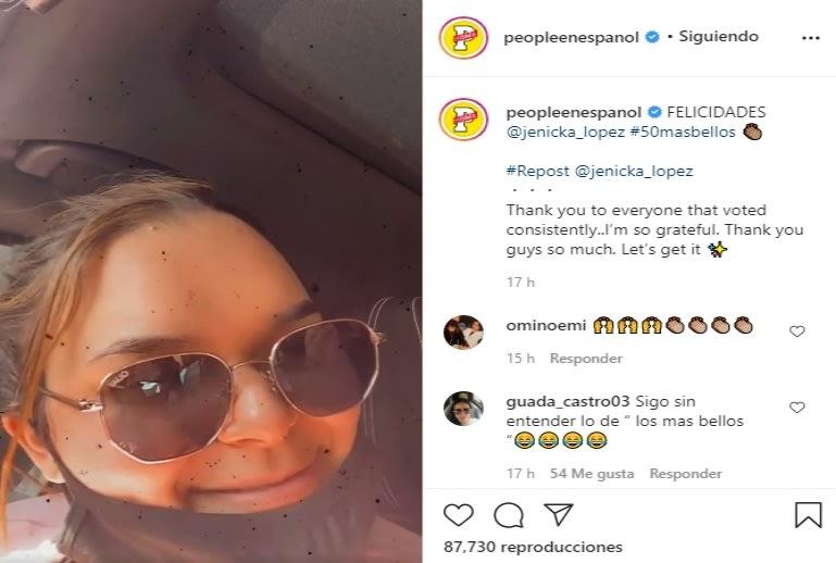 Jenicka López es duramente criticada por ser elegida como uno de los 50 rostros más bellos Hija de Jenni Rivera People en español
