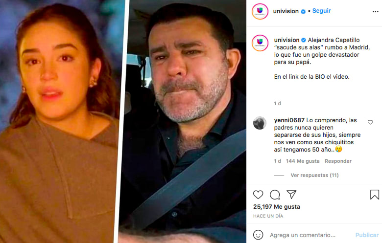 Alejandra Capetillo hace llorar a su familia