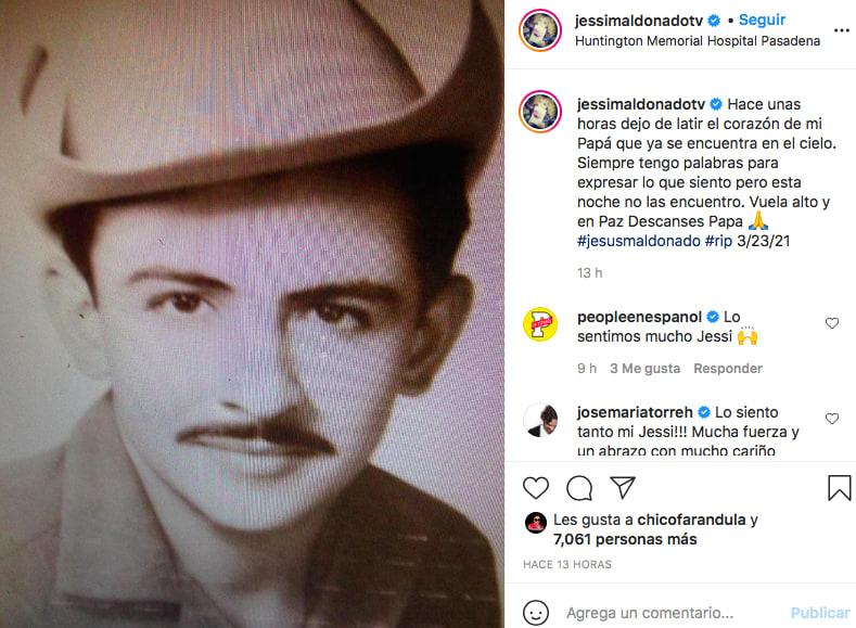 Papá de Jessica Maldonado (Instagram)