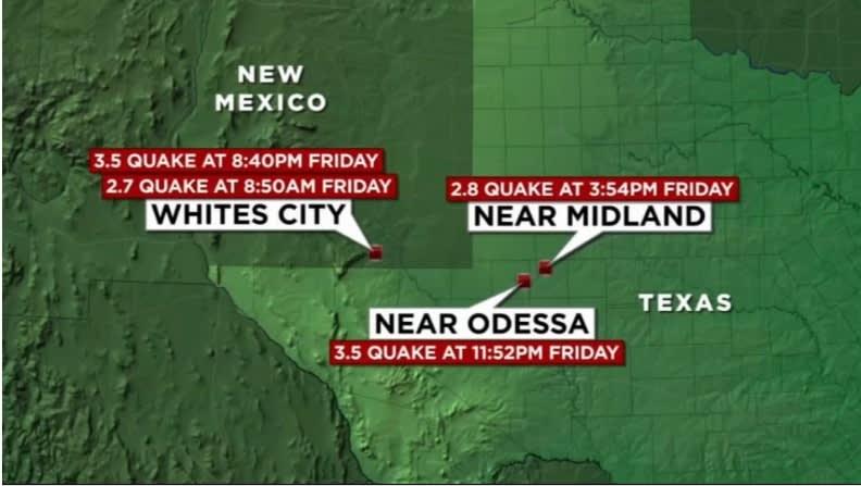 4 Terremotos Texas 24 horas