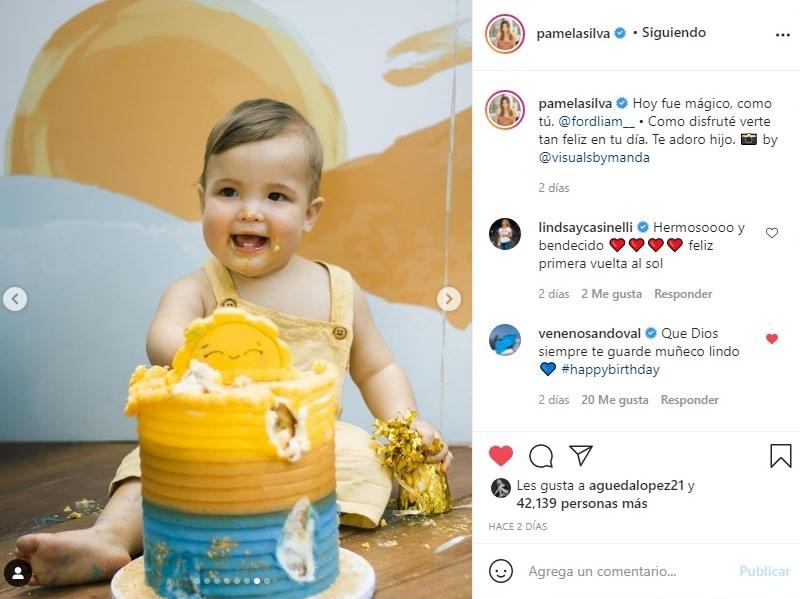 Pamela Silva cumpleaños hijo Ford 5