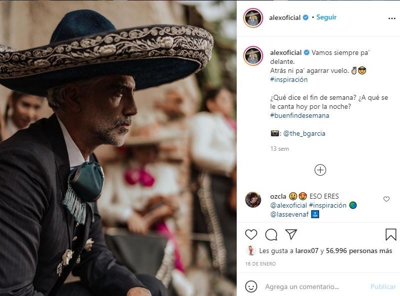 Alejandro Fernández de luto perro Coco 5