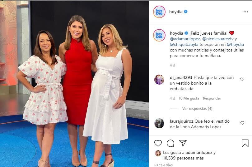 """How ugly the dress of the cute Adamari López"""