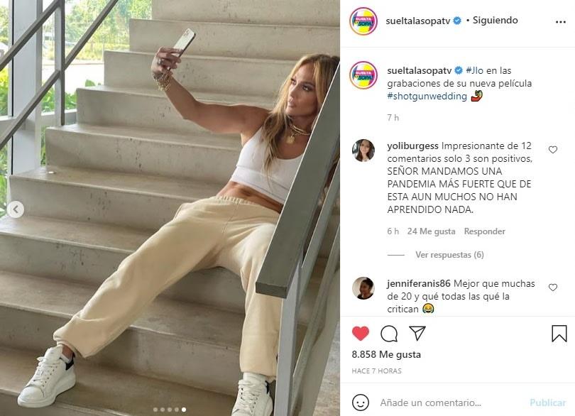 Jennifer López JLo criticada llantitas 5