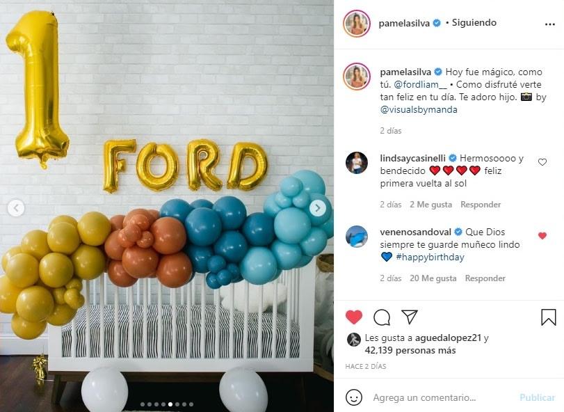Pamela Silva cumpleaños hijo Ford 4