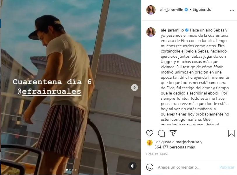 Novia Efraín Ruales mensaje Alejandra Jaramillo 4