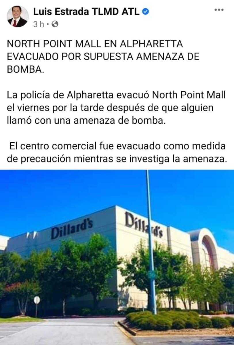 North Point Mall, centro comercial Georgia, amenaza bomba, ataque Capitolio