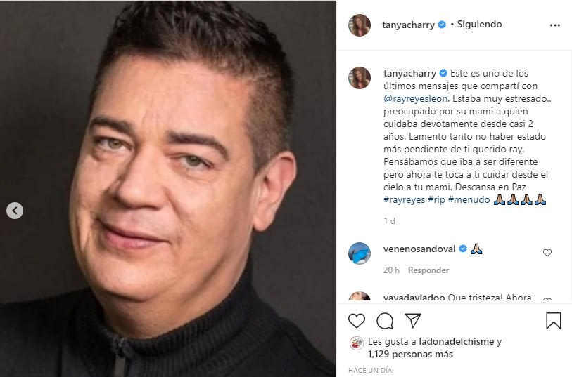Tanya Charry destapa los reveladores mensajes que le envió Ray Reyes antes de morir