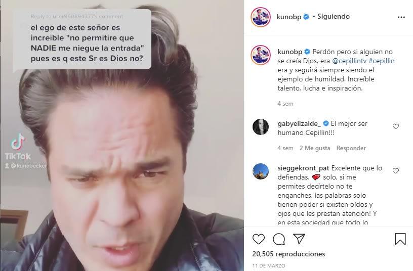 El actor Kuno Becker está de luto por la muerte de su tío