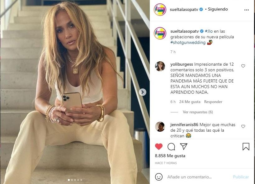 Jennifer López JLo criticada llantitas