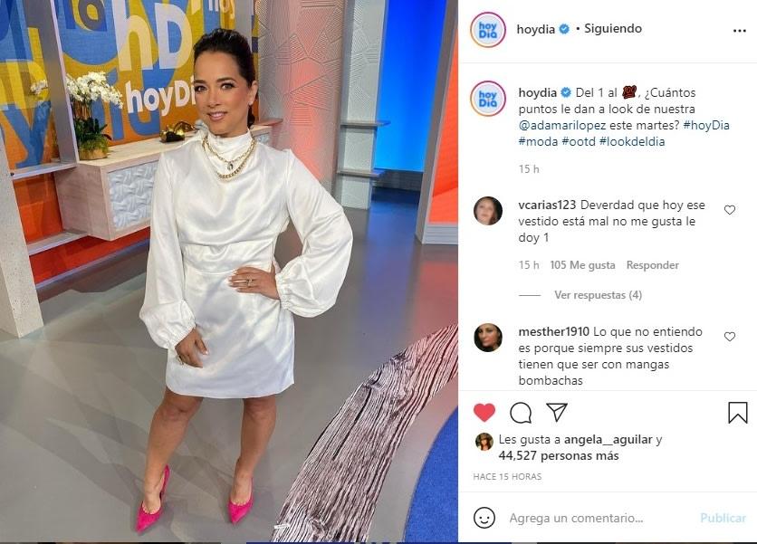 Adamari López sensual baile vestido blanco 4